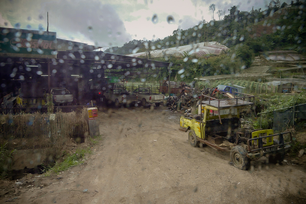 One of the many construction sites in the Cameron Highlands (photo by Irina Stelea)