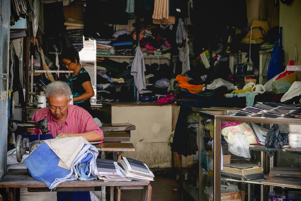 Tailor's shop, Georgetown, Penang (photo by Irina Stelea)