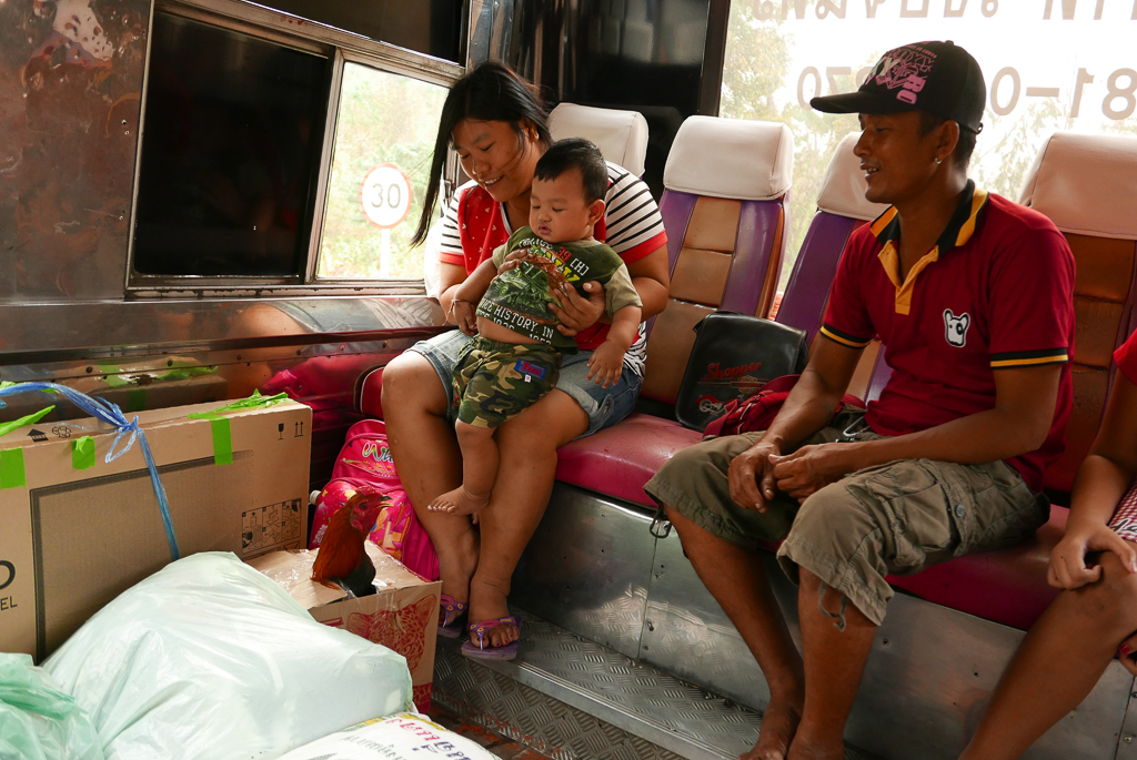 Family in a public bus, Thailand (photo by Irina Stelea)
