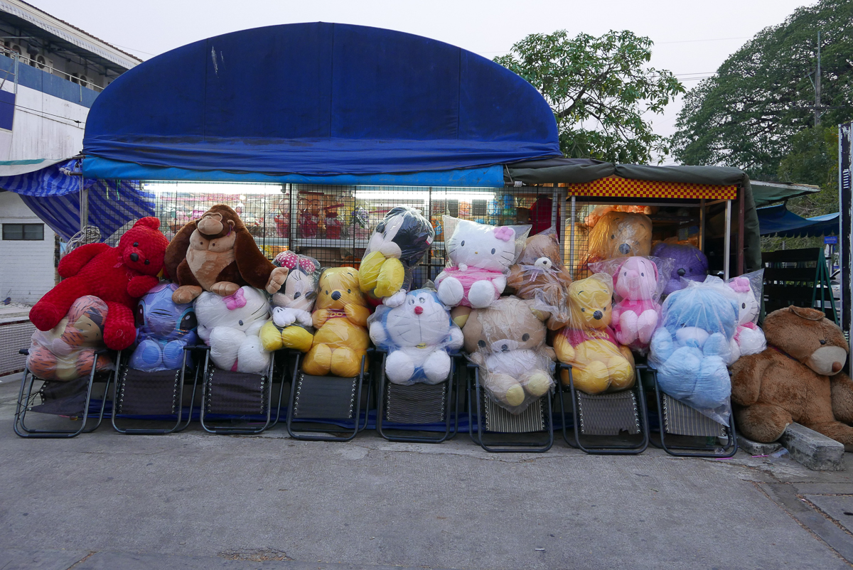 Toy market stall, Mae Sot, Thailand (photo by Irina Stelea)